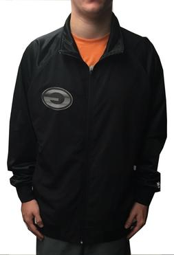 NWT MAJESTIC NFL GREEN BAY PACKERS TRACK JACKET BLACK / SILV
