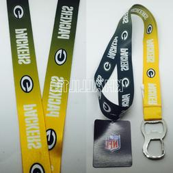 Officially Licensed NFL Gradient Color Lanyard - Green Bay P