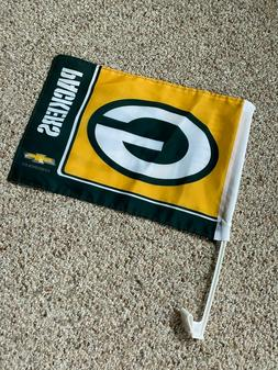 *** PACKERS CAR TRUCK WINDOW FLAG - DOUBLE-SIDED ***