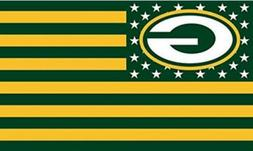 Packers FLAG 3X5 Green Bay Banner American Football New Fast