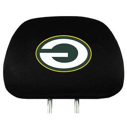 Pair of Green Bay Packers Head Rest Covers - NEW! Truck Car