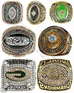 PHOTO GREEN BAY PACKERS NFL CHAMPIONS RINGS 8X10 PHOTO