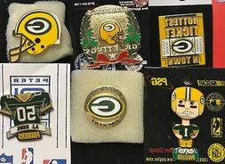 Set of 6 Green Bay Packers Logo Collector Pins Group 2 BLOWO