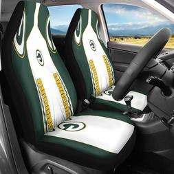 US Green Bay Packers 2PCS Car Seat Covers Pickup Truck Unive