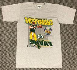 Vintage Green Bay Packers Brett Favre Super Bowl XXXI Champi