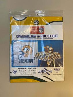 Vintage Green Bay Packers Table Cloth Party Tailgate Wall De
